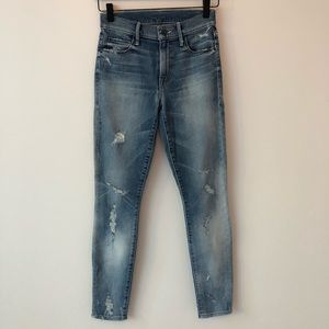 Mother Denim Charmer distressed skinny jeans